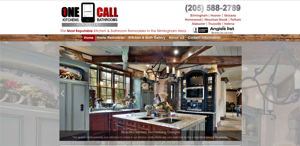 kitchen & bath website design