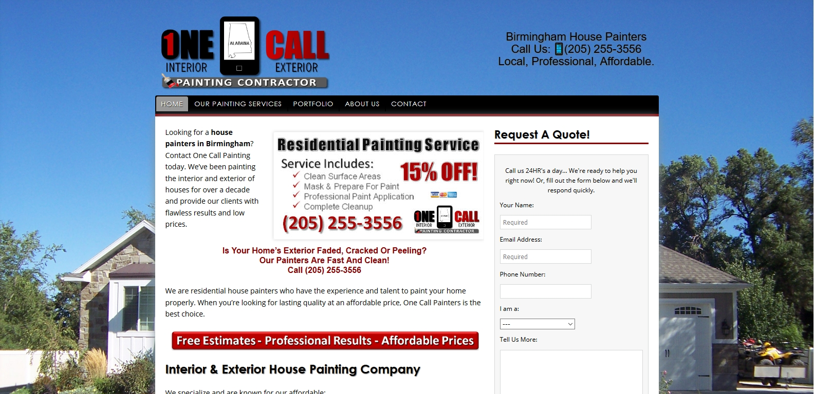 painting website design