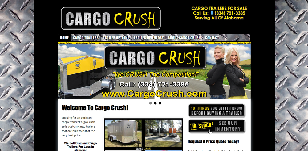 cargo trailer web development